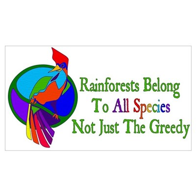 Save Rainforests Poster