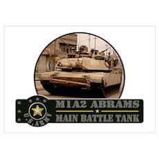 M1 A2 Abrams Tank Poster