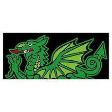 Midrealm Green Dragon Poster