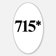 715* Home Run Record Protest Oval Decal
