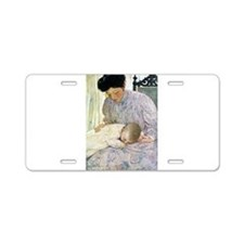 Mother and Child Aluminum License Plate