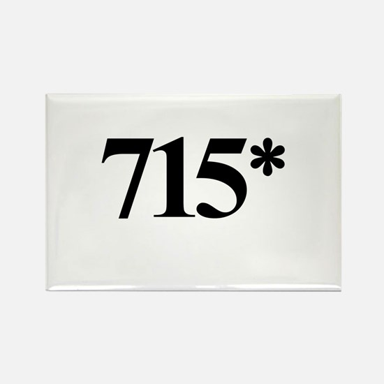 715* Home Run Record Protest Rectangle Magnet