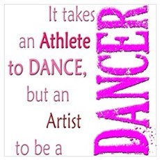 Artist Athlete Dancer Framed Print