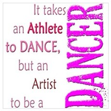 Artist Athlete Dancer Poster