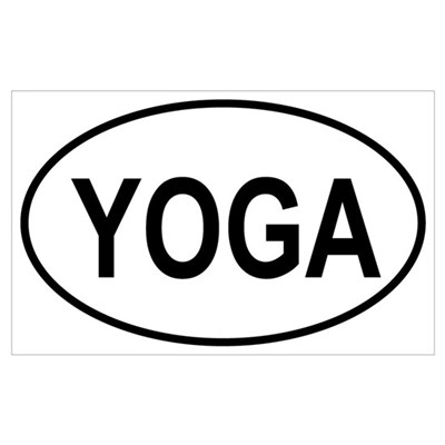 European Oval Yoga Poster