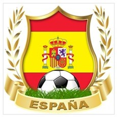 Spainish Soccer Canvas Art