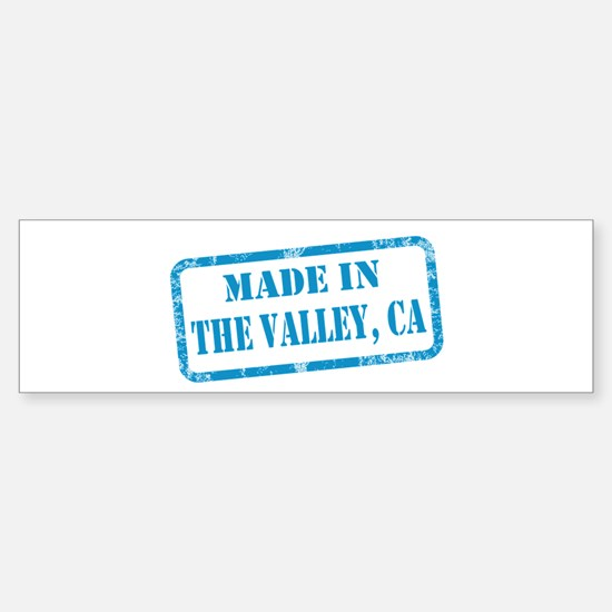 MADE IN THE VALLEY Sticker (Bumper)