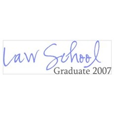 Law School Graduate 2007 (Blue Script) Large Poste Poster