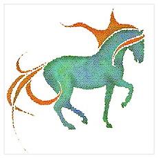 mosaic horse Poster
