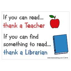 Teacher...Librarian Poster