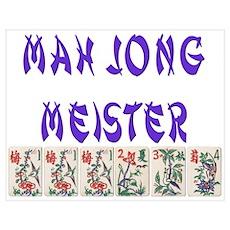 MAH JONG MEISTER Poster