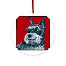 "Schnauzer ""Ruby"" Ornament (Round)"