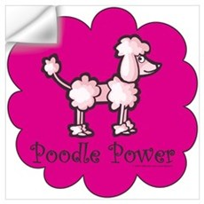 Poodle Power Wall Decal