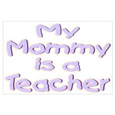 """Baby Mommy Teachers"" Canvas Art"