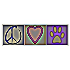 Peace Love Dogs (ALT) Poster