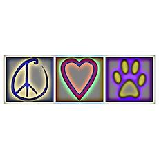 Peace Love Dogs (ALT) Poster