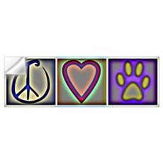 Peace Love Dogs (ALT) Wall Decal
