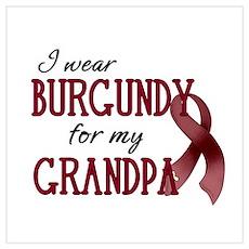 Wear Burgundy - Grandpa Poster