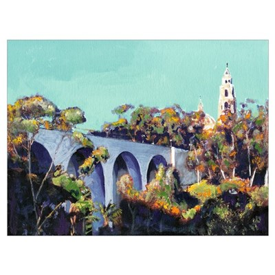 Cabrillo Bridge Balboa Park San Diego Poster