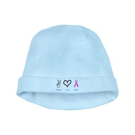 Peace Love Hope baby hat