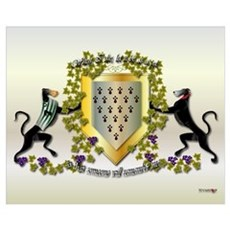 Greyhound Coat of Arms D (small) Poster