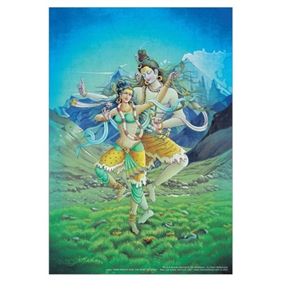 Shiva & Parvati Poster