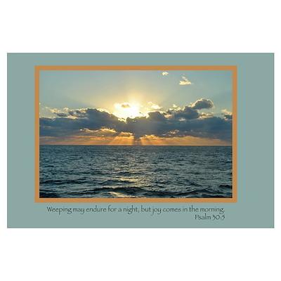 Joy (Psalm 30:5) Poster