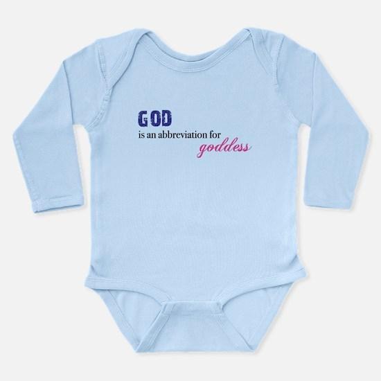 Goddess Abbr. Long Sleeve Infant Bodysuit