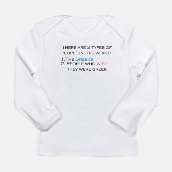 Types Of People Long Sleeve Infant T-Shirt