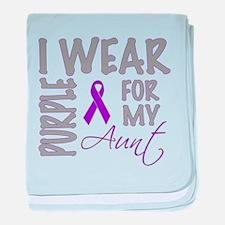 Pancreatic cancer baby blanket