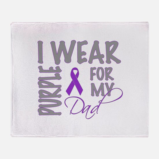 Cute Cancer research Throw Blanket