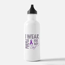 Cute Purple ribbon cure grunge Water Bottle