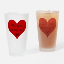 Marry Me Drinking Glass