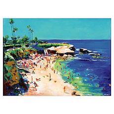 La Jolla Cove Picture Poster