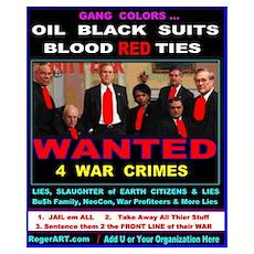 Bu$h Gang WAR CRIMES Poster