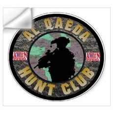 SUBDUED ALQEADA HUNT CLUB Wall Decal