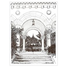 Arches Drawing by RD Riccoboni Poster