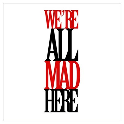 All Mad Here Canvas Art
