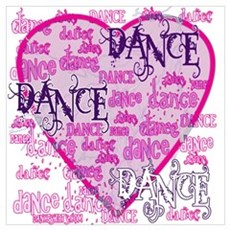 Dance Purple Brocade Poster