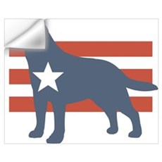 Patriotic Labrador Retriever Wall Decal