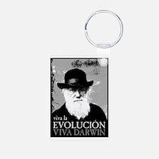 Viva Darwin Evolucion Keychains