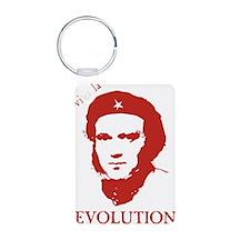 Viva Darwin Evolution! Aluminum Photo Keychain
