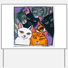 Kitty Cats Yard Sign