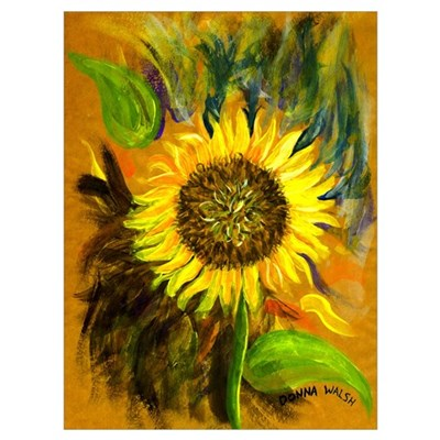 hand painted sunflower Poster