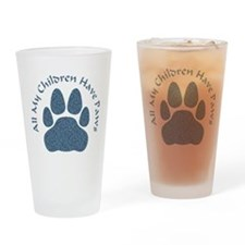 All My Children Have Paws 2 Drinking Glass