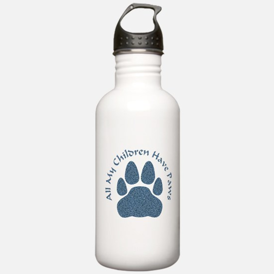All My Children Have Paws 2 Water Bottle