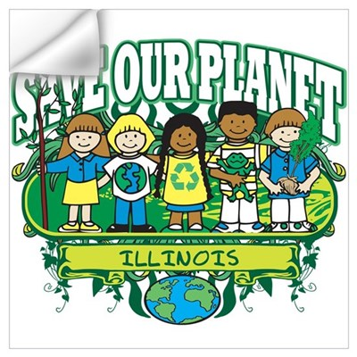 Earth Kids Illinois Wall Decal