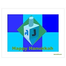 Happy Hanukkah Dreidel Poster