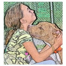 Pit Bull Kisses Framed Print