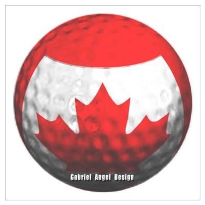 Canadian Golf Poster